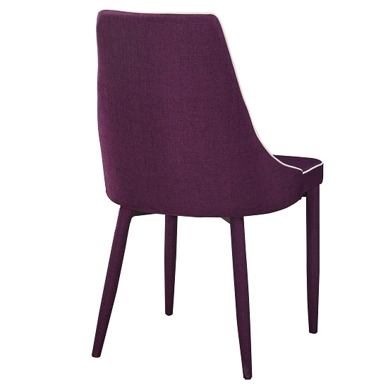 Westport Stylish Dining Chair In Purple Fabric Dining Two Chair Throughout Dining Tables And Purple Chairs (Image 25 of 25)