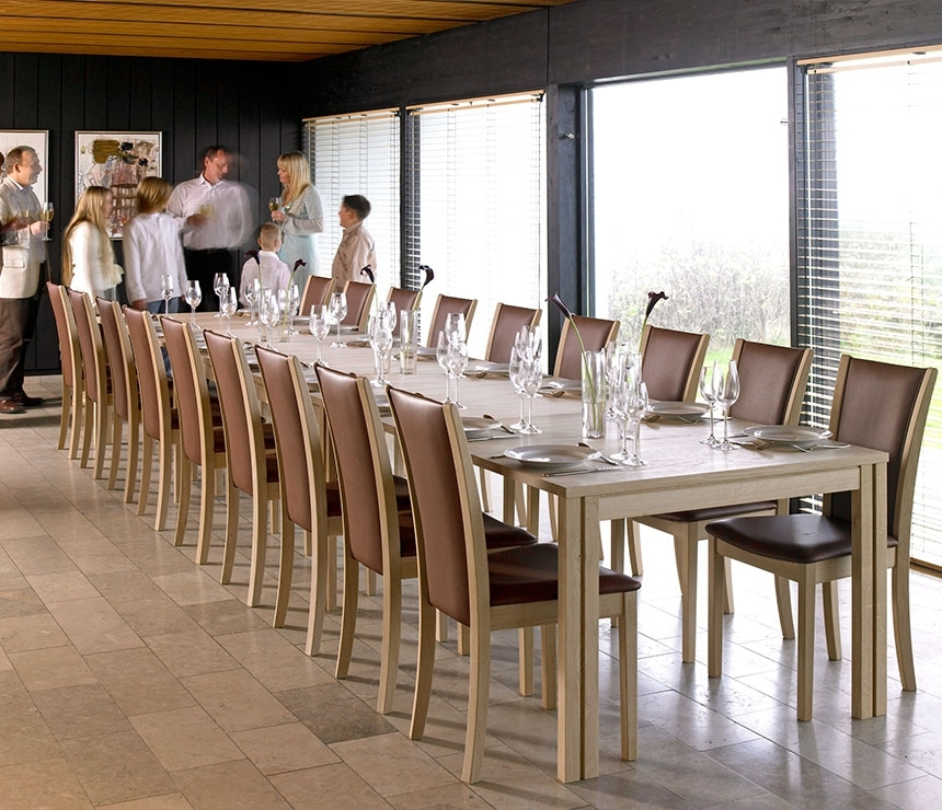 Wharfside Long Dining Table – Ai24 – Danish Wood Dining Furniture Intended For Long Dining Tables (Image 24 of 25)