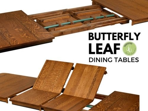 What Are Butterfly Leaf Dining Tables – Countryside Amish Furniture With Combs 48 Inch Extension Dining Tables (Image 25 of 25)