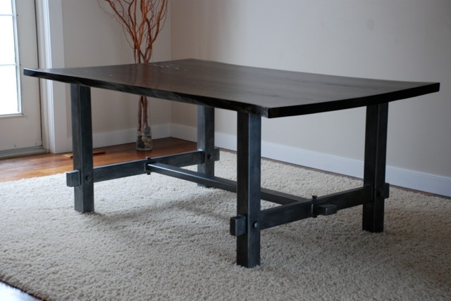 What To Consider On Choosing The Right Metal Dining Table For The In Dining Tables With Metal Legs Wood Top (Image 21 of 25)