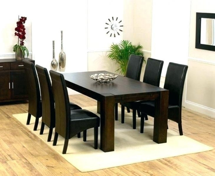White And Dark Wood Dining Table Elegant Black Wooden Chairs Room Regarding Dining Tables Dark Wood (Image 25 of 25)