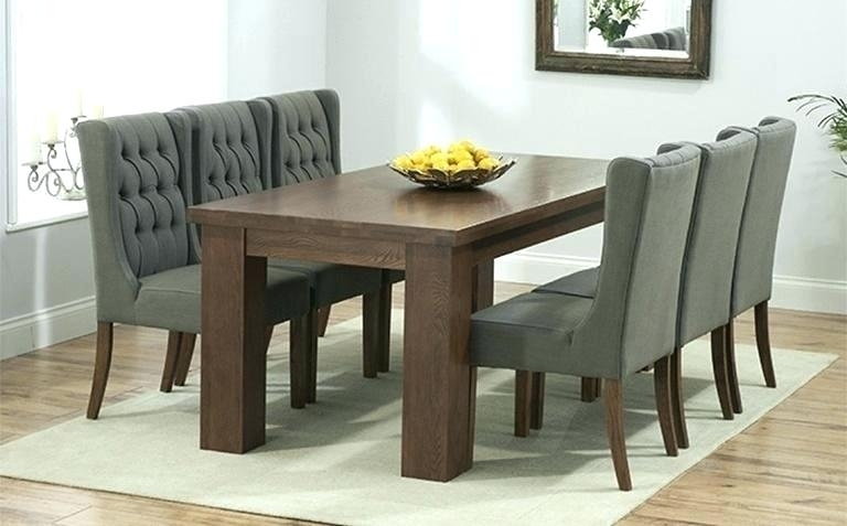 White And Dark Wood Dining Table Elegant Black Wooden Chairs Room With Regard To Dark Dining Tables (Image 25 of 25)