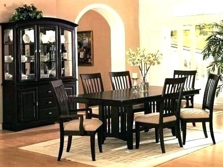 White And Dark Wood Dining Table Elegant Black Wooden Chairs Room With Regard To Dark Wood Dining Tables (Image 24 of 25)