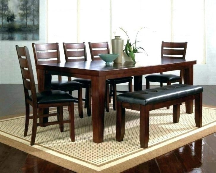 White And Dark Wood Dining Table Elegant Black Wooden Chairs Room Within Dark Wood Dining Tables And 6 Chairs (Image 25 of 25)