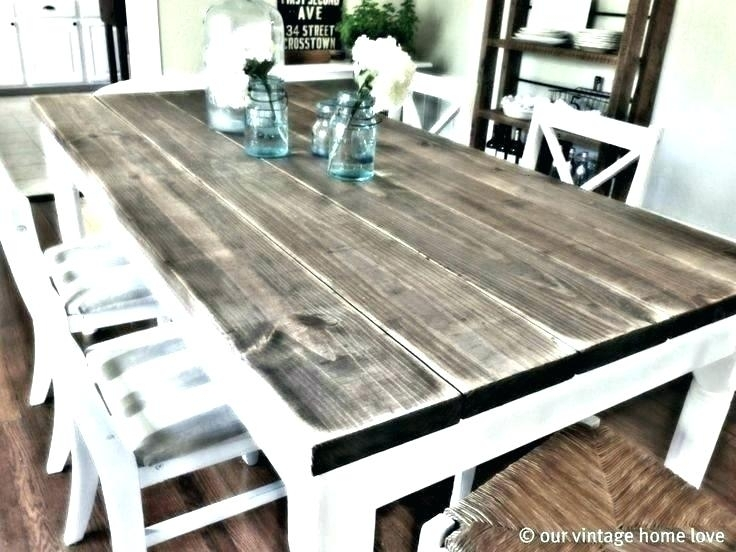 White And Wood Dining Table Dining Table White Legs Wooden Top Regarding Dining Tables With White Legs And Wooden Top (Image 22 of 25)