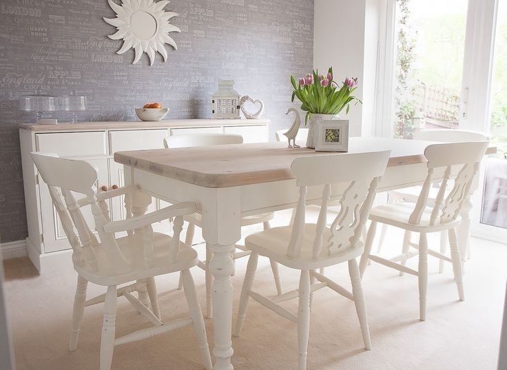 White Dining Room Table And 6 Chairs Best Home Design 2018 Metal Regarding White Dining Tables With 6 Chairs (View 15 of 25)