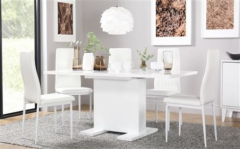 White Dining Sets – White Dining Table & Chairs| Furniture Choice Intended For Gloss White Dining Tables And Chairs (View 24 of 25)
