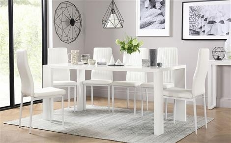 White Dining Sets – White Dining Table & Chairs  Furniture Choice Throughout Next White Dining Tables (Image 24 of 25)