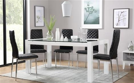 White Dining Sets – White Dining Table & Chairs| Furniture Choice Within Smartie Dining Tables And Chairs (View 14 of 25)
