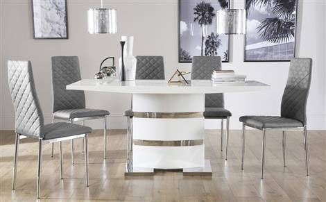 White Dining Table And Chairs | Lapdrp With White Dining Tables Sets (Image 23 of 25)