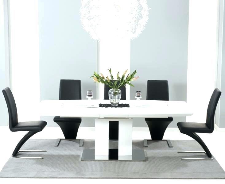 White Dining Table Black Chairs – Reconecte In High Gloss Dining Tables And Chairs (Image 23 of 25)