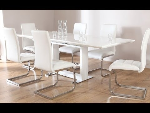 White Dining Table – White Gloss Dining Table – Marble Dining Table Inside White Gloss Dining Tables (Image 23 of 25)