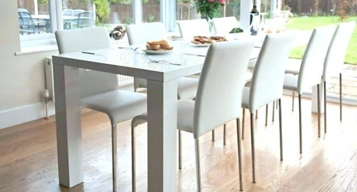 White Dining Table Wood Small Kitchen Sets Fabric Armless Chairs Within White Dining Tables (Image 24 of 25)