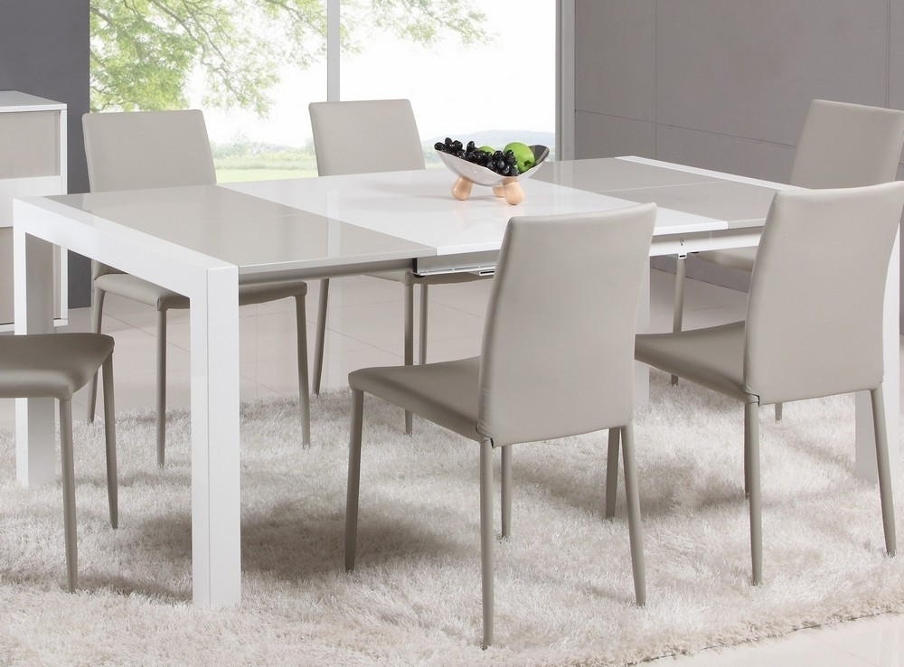 White Expandable Dining Table — Home Design Ideas : Make An In White Square Extending Dining Tables (View 4 of 25)