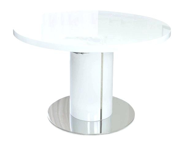 White Extending Dining Table With 4 Uk Ng Whit – Affordableweb Within Round White Extendable Dining Tables (Image 22 of 25)