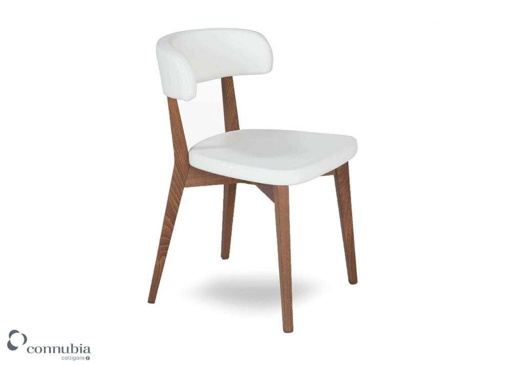 White Faux Leather Dining Chair – Siren – Ez Living Furniture Within White Leather Dining Chairs (Image 19 of 25)