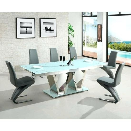 White Glass Dining Table Extending Small Dining Table Detailed For Extendable Glass Dining Tables And 6 Chairs (View 18 of 25)