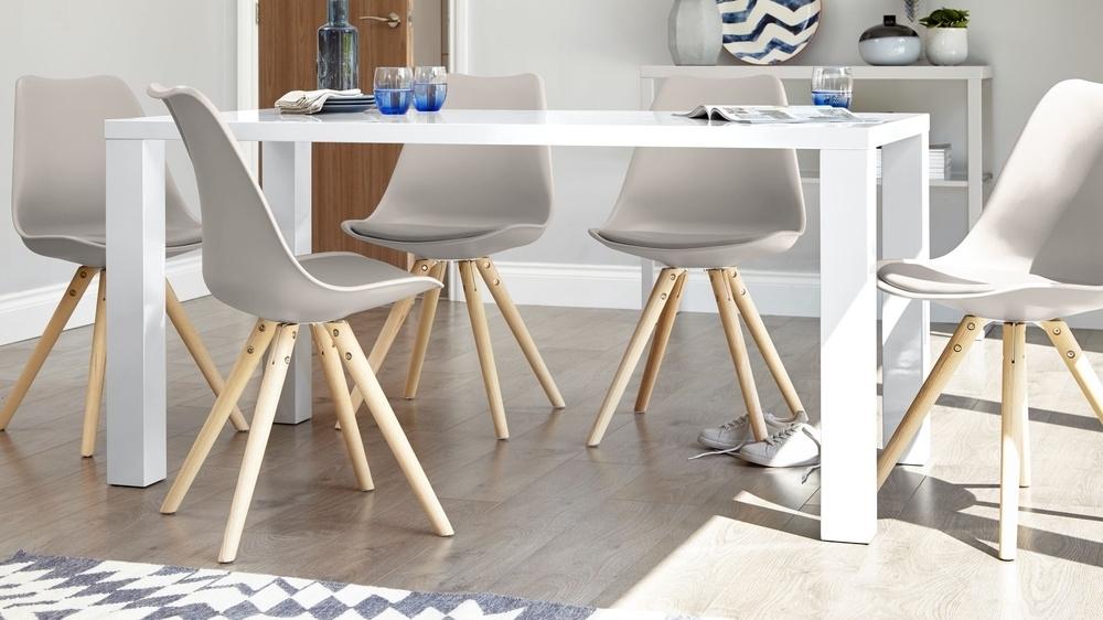 White Gloss 4 Seater Dining Set | 4 Seater Dining Set | Uk Regarding White Gloss Dining Chairs (Image 23 of 25)