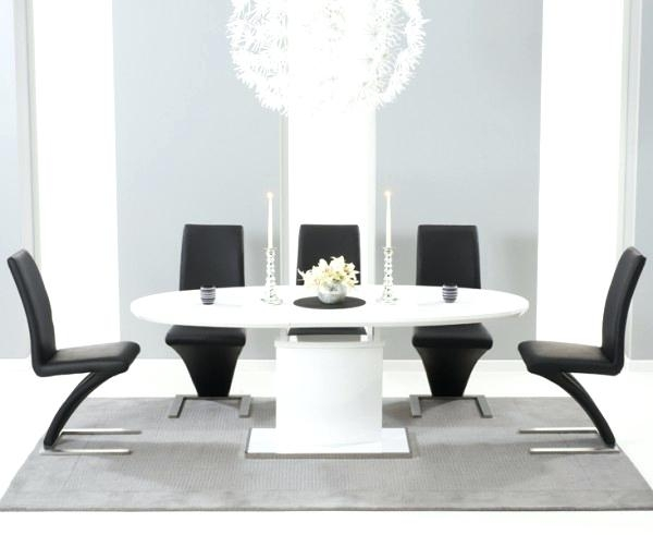 White Gloss Dining Room Table 5 Off White High Gloss Dining Room Intended For White Gloss Dining Room Furniture (Image 24 of 25)