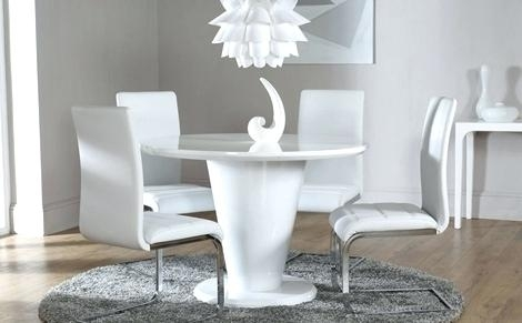 White Gloss Dining Set Extending White Gloss Dining Table Furniture With Regard To White Gloss Dining Tables Sets (Image 21 of 25)