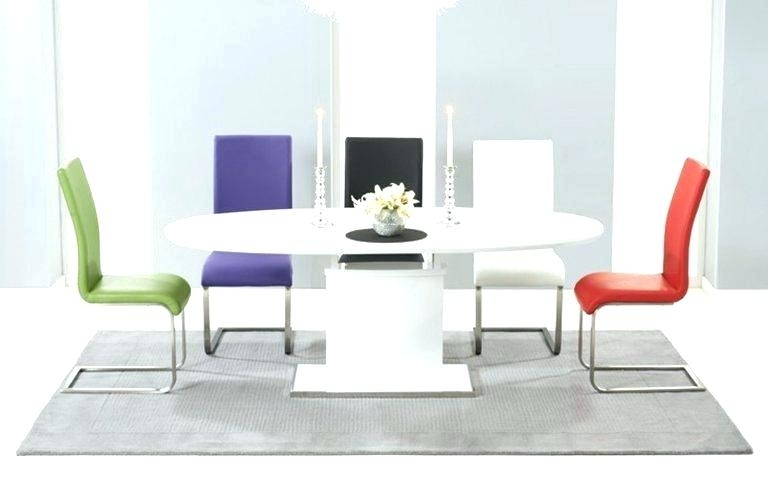 White Gloss Dining Set Modern White Gloss Dining Table Glass Legs Pertaining To Black Gloss Dining Tables And Chairs (View 14 of 25)