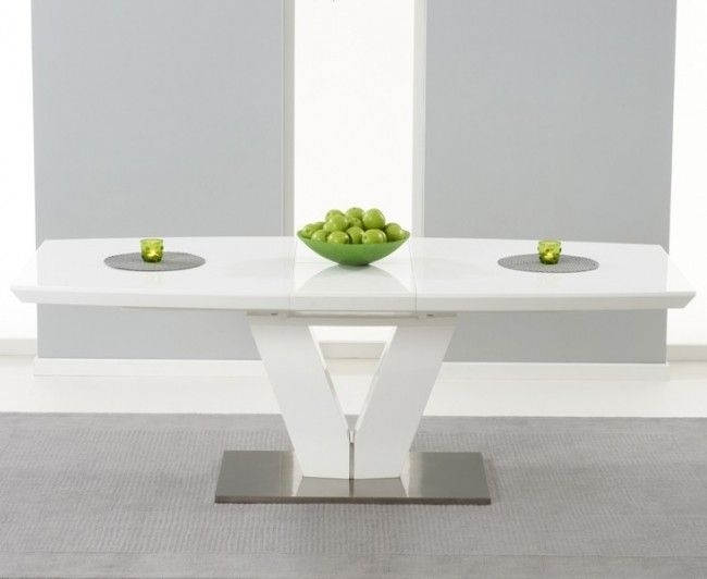 White Gloss Dining Table 140Cm – Tvs Table Within White Gloss Dining Tables 120Cm (Image 24 of 25)