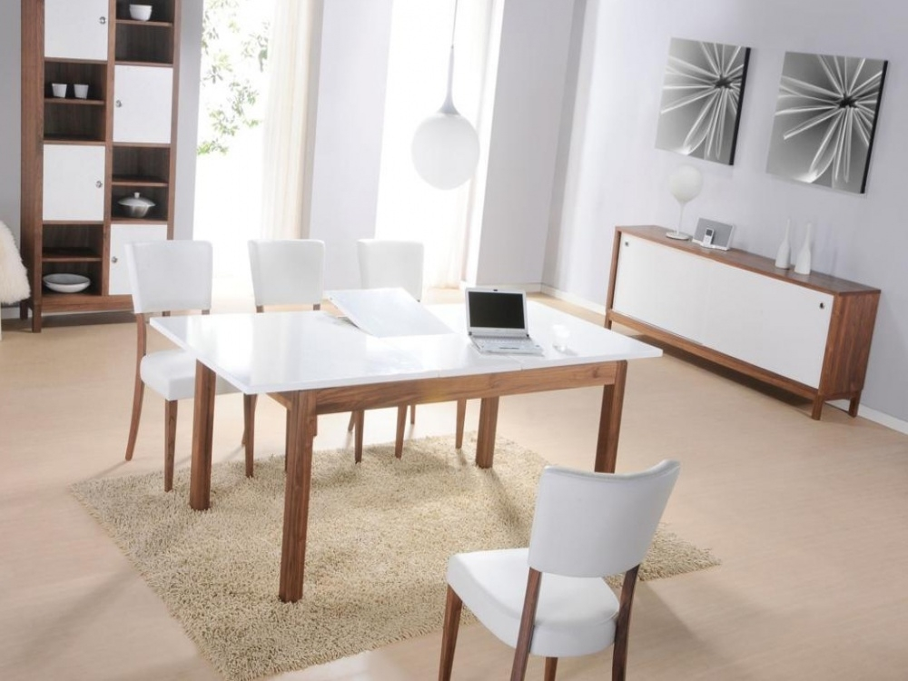 White Gloss Dining Table And Chairs Seat Cushions For Dining Room Chairs Pertaining To White Dining Tables (Image 25 of 25)