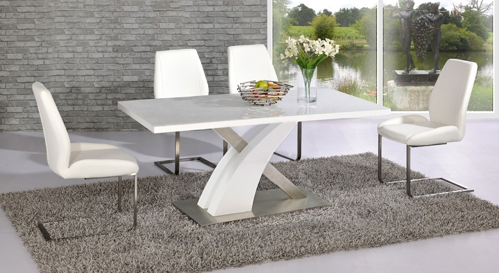 White Gloss Dining Table Co (Image 21 of 25)