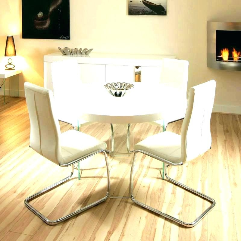 White Gloss Dining Table Set White Gloss Dining Table And Real Inside Gloss Dining Tables Sets (View 16 of 25)