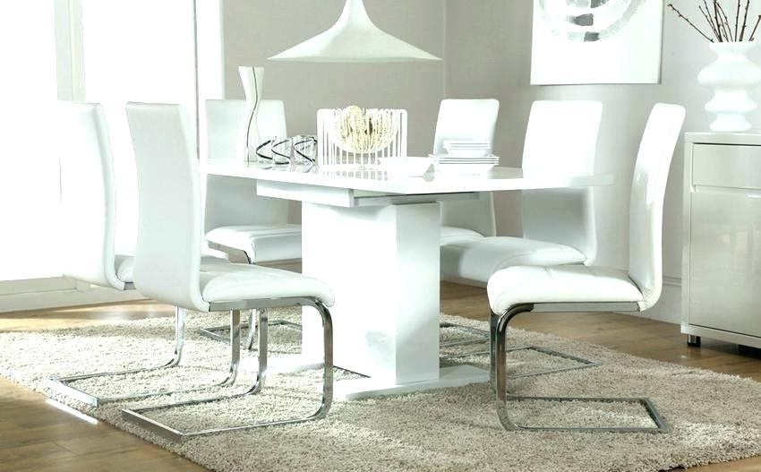 White Gloss Dining Table Set White Gloss Dining Table And Real Pertaining To White Gloss Dining Room Furniture (Image 25 of 25)