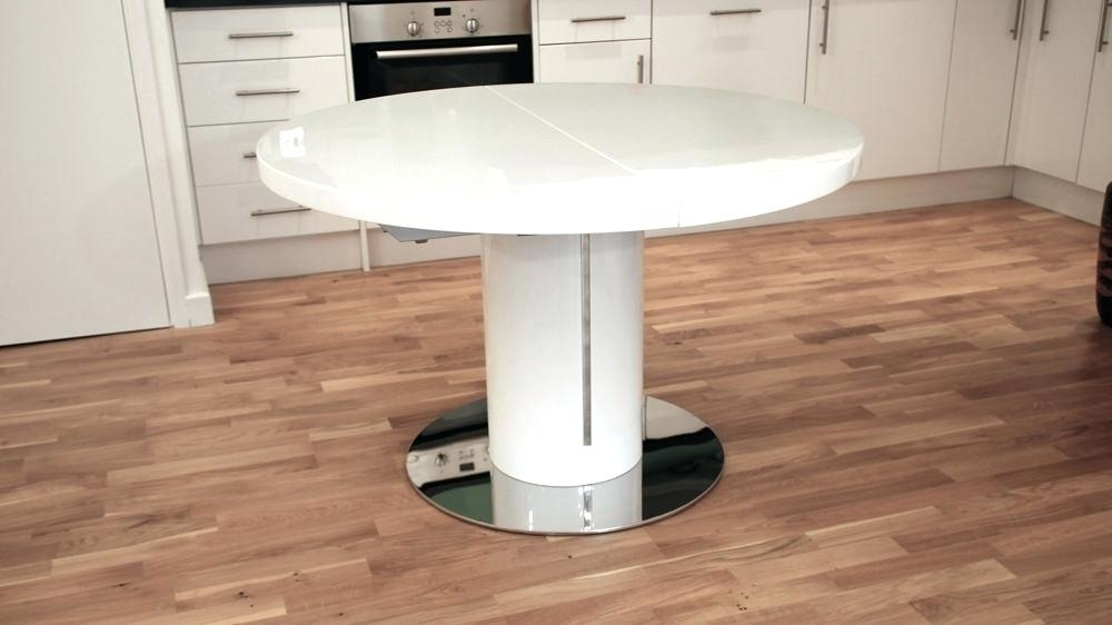 White Gloss Extending Dining Table Fern White Gloss Extending Dining For White Gloss Extendable Dining Tables (Image 24 of 25)