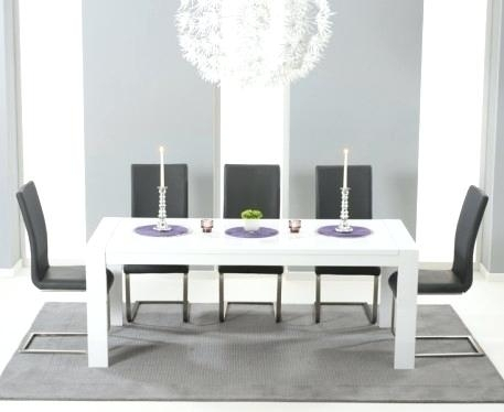 White Gloss Extending Dining Table Fern White Gloss Extending Dining With Regard To High Gloss Extendable Dining Tables (View 13 of 25)