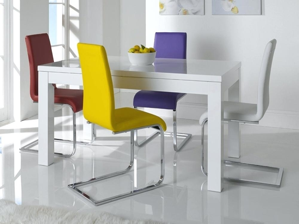 White Gloss Extending Dining Table Furniture Modern White Gloss For White Gloss Dining Tables 140Cm (Image 23 of 25)