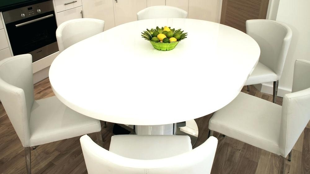 White Gloss Extending Dining Table White Gloss Dining Table Cm White Intended For Round High Gloss Dining Tables (Image 23 of 25)