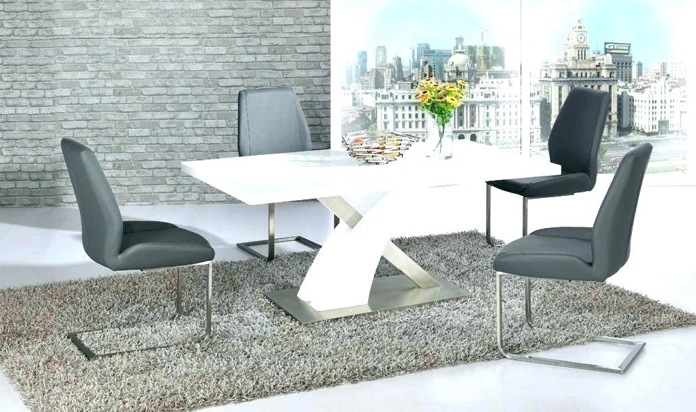 White Gloss Furniture High Gloss Dining Table Sets Great Furniture Regarding Gloss Dining Tables Sets (Image 24 of 25)