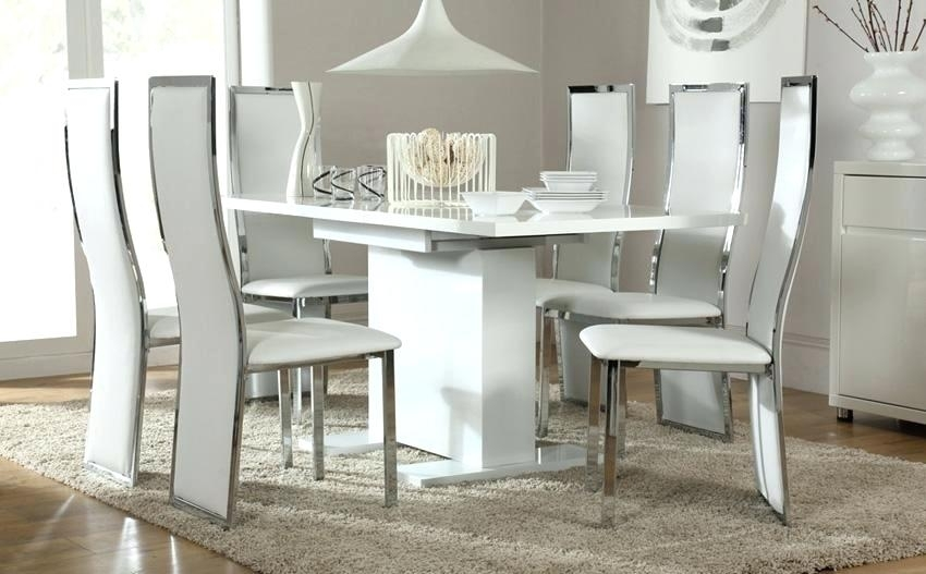 White Hi Gloss Dining Table White High Gloss Extending Dining Table Inside High Gloss Round Dining Tables (View 25 of 25)