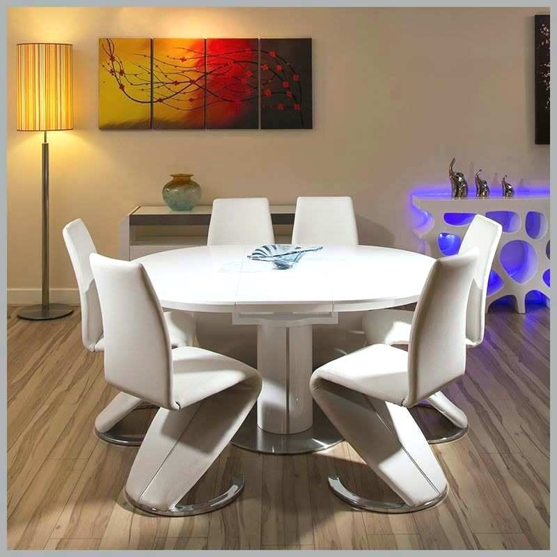 White High Gloss Dining Chairs Modern Table Best Of Extending Fresh Throughout White High Gloss Oval Dining Tables (Image 22 of 25)