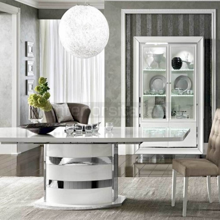 White High Gloss Dining Table | Dama Bianca | Sale With High Gloss Dining Furniture (Image 25 of 25)