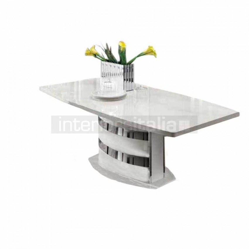 White High Gloss Dining Table   Dama Bianca   Sale With Regard To High Gloss Dining Room Furniture (Image 23 of 25)