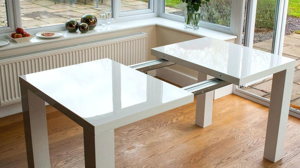 White High Gloss Dining Table – Yourlegacy In Extending Gloss Dining Tables (View 5 of 25)