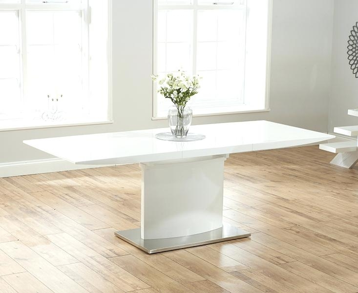 White High Gloss Dining Table – Yourlegacy With Extending White Gloss Dining Tables (Image 25 of 25)