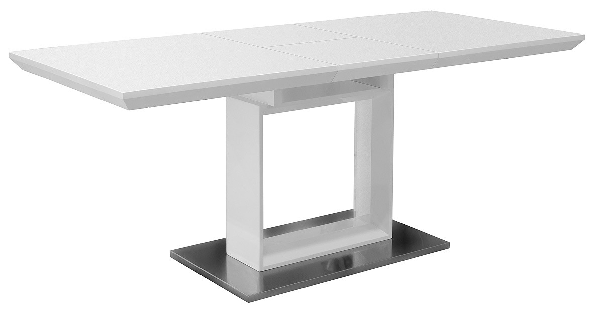 White High Gloss Extending Dining Table – Be Fabulous! Pertaining To Black Gloss Extending Dining Tables (Image 24 of 25)