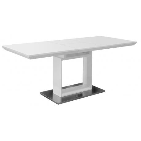 White High Gloss Extending Dining Table Regarding High Gloss Extending Dining Tables (View 14 of 25)