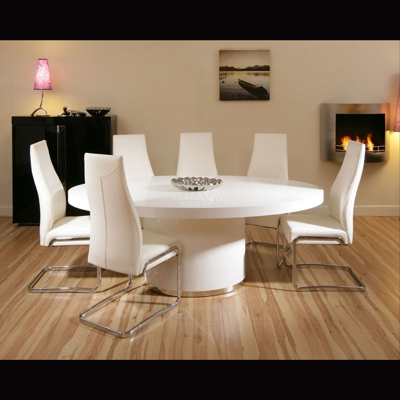 White High Gloss Oval Dining Table – Strawberryperl For White High Gloss Oval Dining Tables (View 3 of 25)