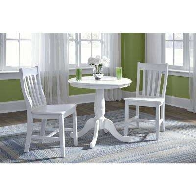 White – International Concepts – Furniture – The Home Depot For Weaver Dark 7 Piece Dining Sets With Alexa White Side Chairs (Image 24 of 25)