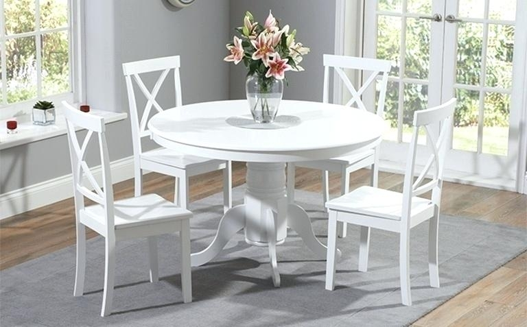 White Kitchen Table Painted Dining Table Sets Great Furniture With Painted Dining Tables (View 19 of 25)