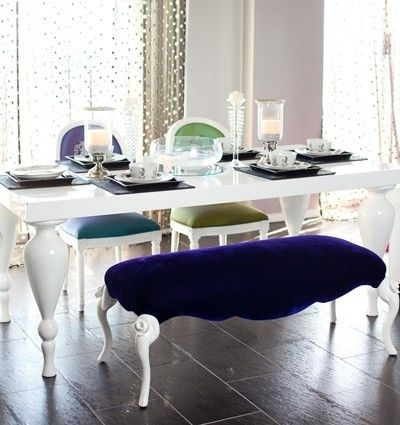 White Lacquer Dining Table – Featuring Elegantly Carved, Turned Legs Intended For Shiny White Dining Tables (View 5 of 25)