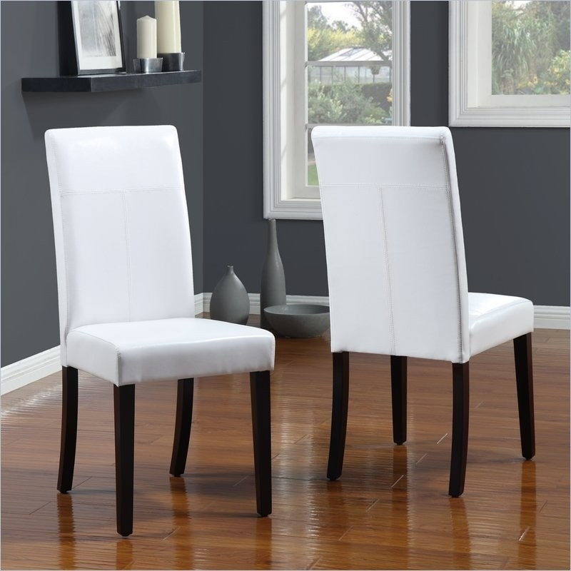 White Leather Dining Chairs To Spice Up Your Dining Room – Home Inside White Leather Dining Chairs (Image 22 of 25)