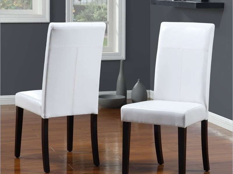 White Leather Dining Chairs To Spice Up Your Dining Room – Home Intended For White Leather Dining Chairs (Image 23 of 25)