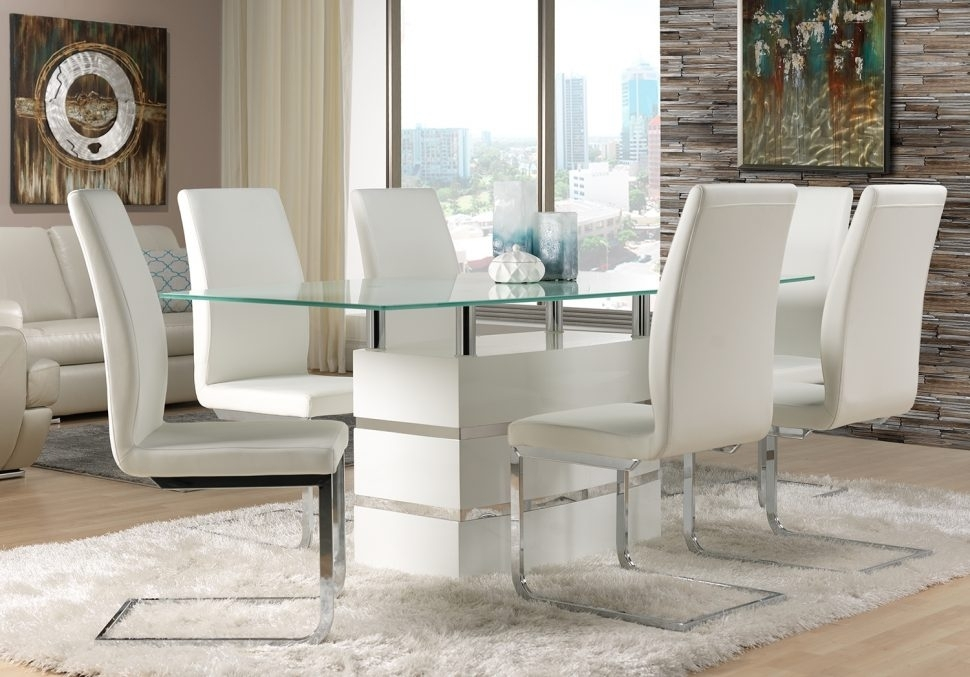 White Leather Dining Chairs To Spice Up Your Dining Room – Home With Regard To White Leather Dining Room Chairs (Image 24 of 25)